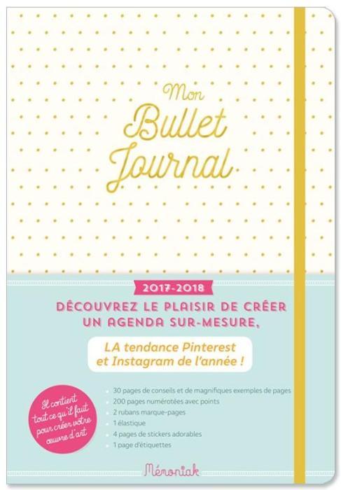 Bullet journal de chez Mémoniak avec ses couleurs pastel.