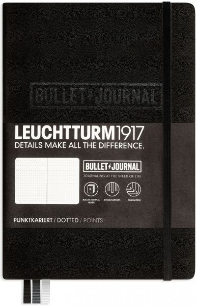 Leuchtturm1917 carnet noir avec son élastique