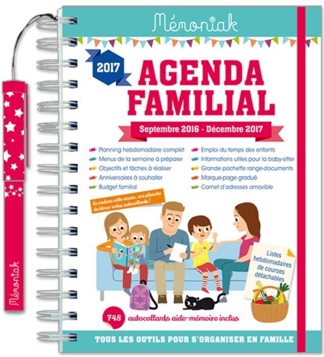 Agenda familial Mémoniak avec toutes les rubriques utiles