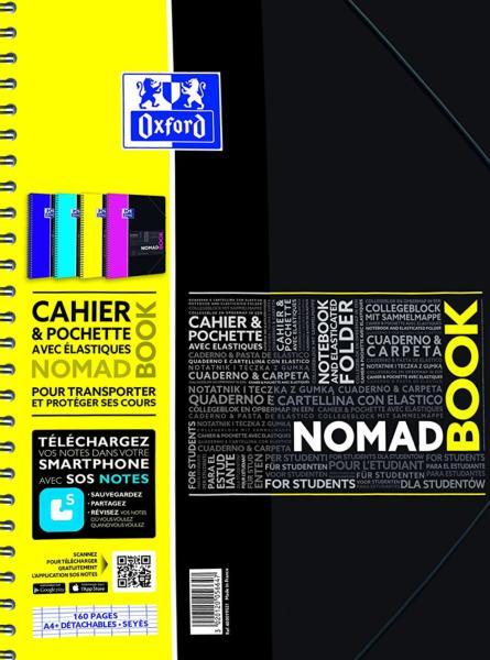 Cahier A4 jaune et noir le Nomad book